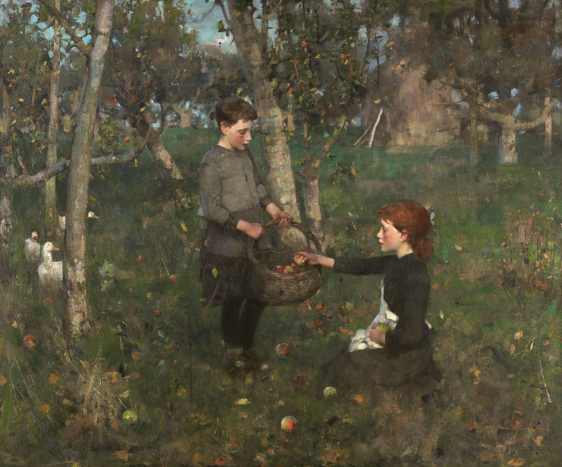 James Guthrie, In the Orchard, olieverf op doek, 1885/1886. © CSG CIC Glasgow Museums Collection, Glasgow & Scottish National Gallery, Edinburgh